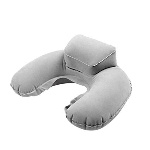 Setsail Spielraumim freien Spielraum U-förmiger Beutel aufblasbares Kissen 3D Reisekissen aufblasbares nackenkissen tragbarer aufblasbarer Schlaf (Grau)