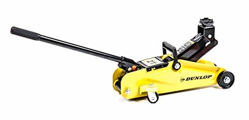 Auto Rangierwagenheber, hydraulisch, Hebelstange,Griff, 4 Rollen, max. Hebelast 2 Tonnen, gelb-schwarz