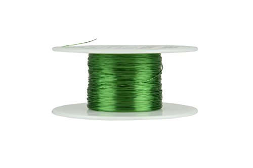 TEMCo 30 AWG Copper Magnet Wire - 2 oz 392 ft 155°C Magnetic Coil Green