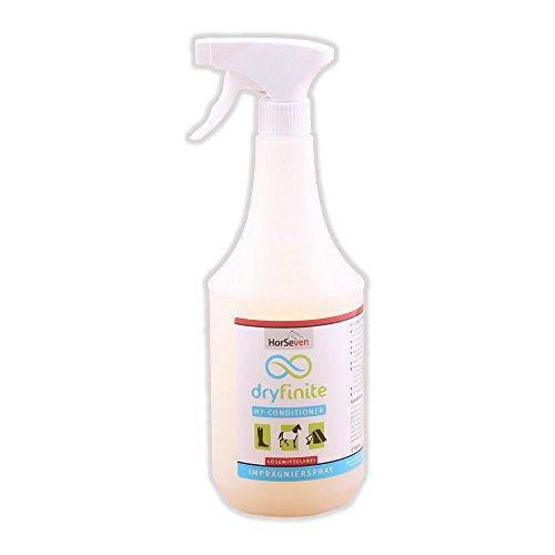 HorSeven dryfinite Conditioner 1000ml - Imprägnierspray, Pferdedecken Imprägnierung Wetterschutz Geruchsneutral