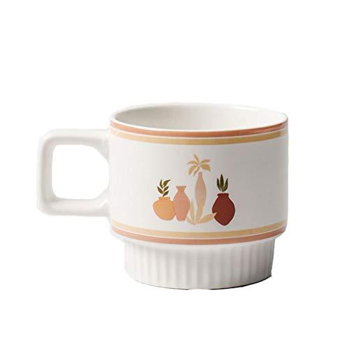 WxberG Juego de 4 tazas de café con aislamiento para café expreso, de 306 ml, tazas de café gruesas, para café, café, capuchinos (color: tipo 2)