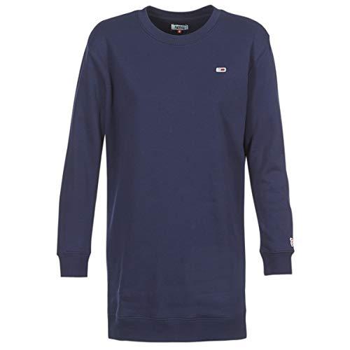 Tommy Jeans Womens TJW Tommy Classics Sweat Dress Blau Kurze Kleider M