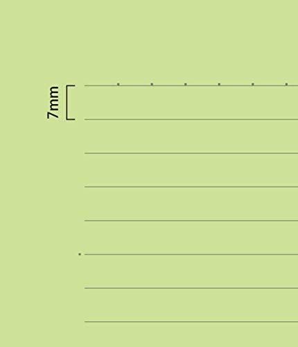 目に優しいノート【B5判7mm横罫紙色グリーン】30枚水平開き(ナカプリバイン)3冊セット
