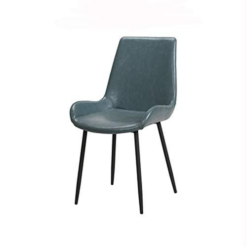 Preisvergleich Produktbild G / j / f Das Metallstuhl,  Moderne minimalistische Art-Bürohocker Stuhl Küche Wohnzimmer Ergonomischer Lobby Chair 4-teiliges Set,  Laden 300 Lbs / Blau / Braun (Color : Blue)