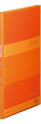 キングジム クリアーファイル シンプリーズ(透明)10P オレンジ A4S 184TSPHオレ