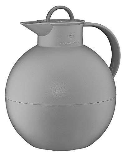 alfi Kugel, Thermoskanne Kunststoff grau 0,94l mit alfiDur Vakuum-Hartglaseinsatz, Isolierkanne hält 12 Stunden heiß, ideal als Kaffeekanne oder als Teekanne - 0115.992.094