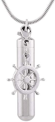Ase halsketting urne voor as urnenschering as hanger aandenken as urnen hoogglans roestvrij staal cilinder inlaat hanger herdenking ketting met kompas as urne aandenken sieraden