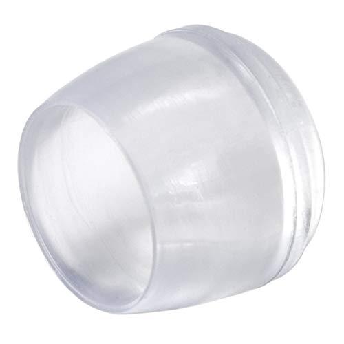 Adsamm® | 16 x Stuhlbeinkappen | Ø 18 mm | Transparent | rund | Möbelgleiter für Stahlrohrstühle