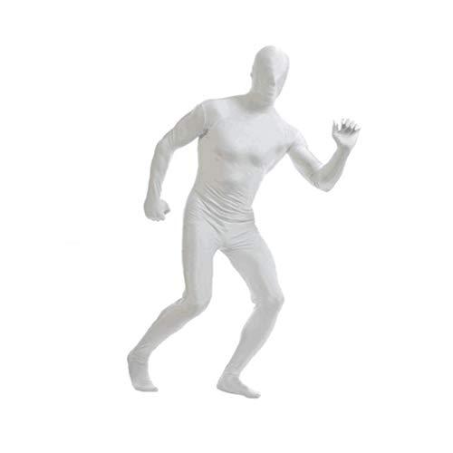 Weiß Xxl Spandex Body Full Body Zentai Hauteng Spandex-Anzug Unisex Anzug Erwachsene Ganzkörper-Anzüge Lycra-Kostüm-Abendkleid-Halloween-Karte Kostüme für Erwachsene und Kinder-Festival-Dekoration