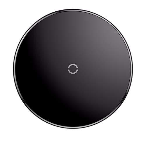 Draadloze oplader voor iPhoneXS/Samsung S10 en andere Qi-compatibele apparaten, Baseus Qi snelle, draadloze lader Temper Glass Pad (zwart)