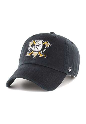 '47 Unisex NHL Anaheim Ducks Clean Up Baseballkappe, Black, One Size