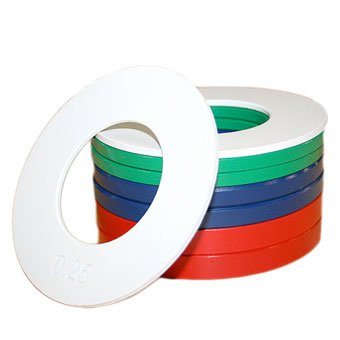 Xtreme Monkey Fractional Plate Weight Set: Incl: 2 x 1/4lbs, 2 x 1/2lbs, 2 x 3/4lbs, 2 x 1lbs Colors