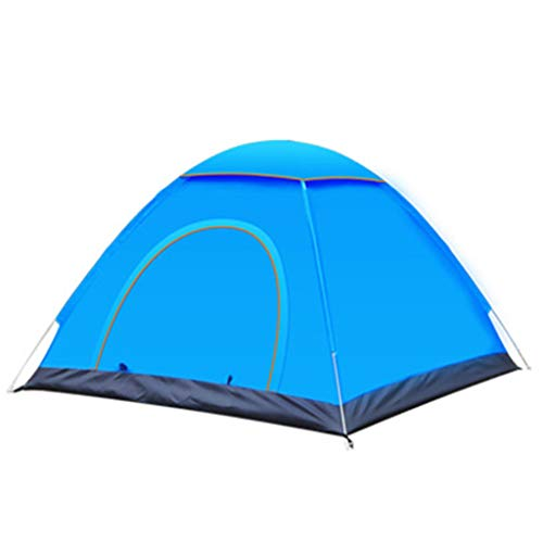 Outdoor camping tents, two-person tents, two-door tents, automatic quick-opening tents, easy to carry-blue-L