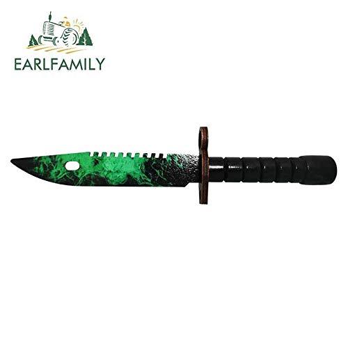WAXY Earlfamil-calcomanía Fina para Coche Skin M9 13cm x 3 3 cm Cuchillo de Bayoneta Autocaravana decoración de estilismo Impermeable-Style_B