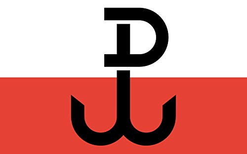 magFlags Flagge: Large PPP | Armia Krajowa; The Symbol on The Flag Called Kotwica is a Combination of Letters P and W Polska Walcz?ca | Armii Krajowej; Symbol NA fladze jest z?o?eniem Liter