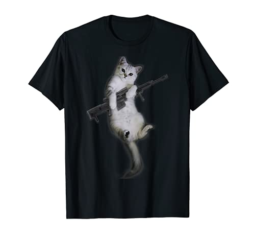 Pistola divertida Gatito Pistola Lindo Gato Camiseta
