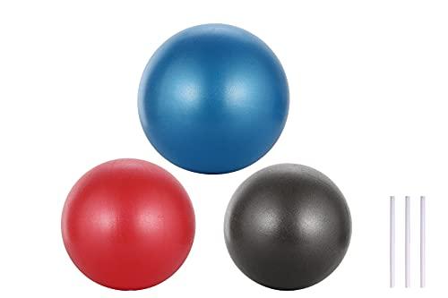 APTSPADE Gymnastikball Klein Pilates Ball, 3 Stück 25cm Übung Barre Ball für Yoga, Stabilität Übung Training Gym Anti Burst und Slip Resistant Balls Physikalische Therapie verbessert das Gleichgewicht