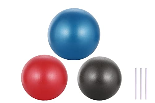 3 pelotas de equilibrio para pilates, 25 cm, minipelota de ejercicio para yoga, estabilidad y entrenamiento, antipinchazos, terapia física que mejora el equilibrio y la fuerza muscular.