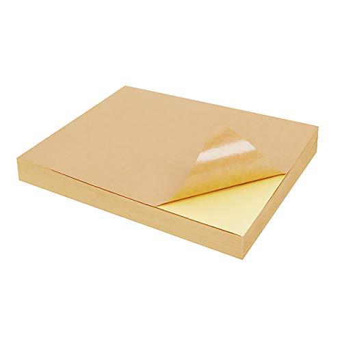 50 Blatt Selbstklebendes Kraftpapier A4 Leicht Zu ReißEn Aufkleber Etiketten Papier FüR Tintenstrahldrucker Laser Drucken Kopiererdruck