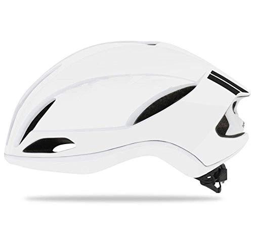 PerrCare Casco da Bicicletta Casco da Ciclismo Casco da Bici da Corsa Aerodinamica Casco Pneumatico Uomo Sport Casco da Bicicletta Aero Bianco 55Cmx61Cm