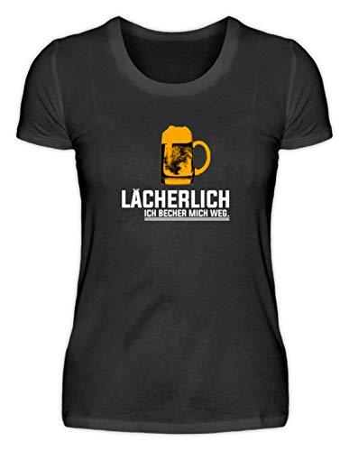 Glimlachend. Ich becher Mich Weg! Party groepen bier - eenvoudig en grappig design - damesshirt