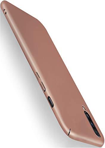 moex Alpha Hülle für Samsung Galaxy A50 / A30s Hülle Stoßfest & Leicht Handyhülle Extra Dünn, Super Slim Schutzhülle Ultra Air Hybrid PC Hardcase aus Kunststoff - Rosegold
