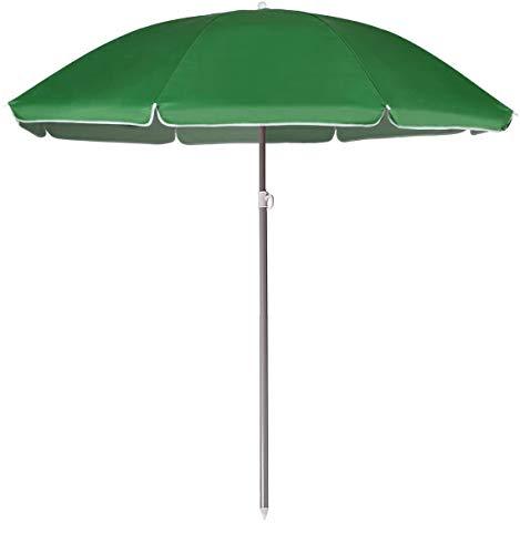 Arcoiris Sombrilla Plegable 200 CM, Parasol de Aluminio Protección Solar UPF+50, Sombrilla Jardín, Protección Solar (220cm Verde)
