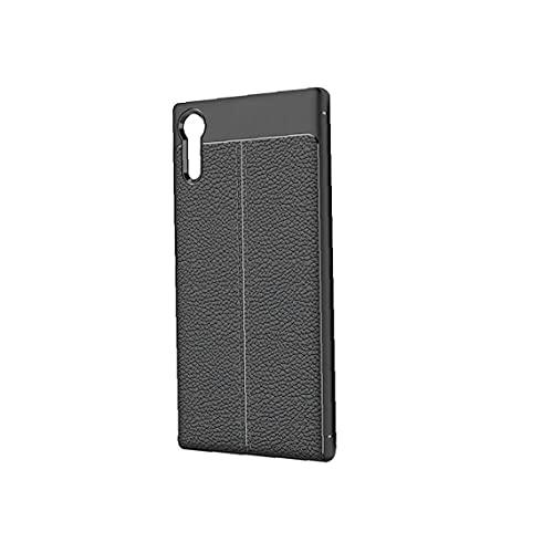 WFIT Cubierta De La Caja De Absorción De Choque Teléfono Anticaída Cuero Teléfono Protector De Cáscara del Teléfono para Xperia Xa1 Ultra - Negro