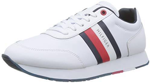 Tommy Hilfiger Herren Leeds 10a2 Sneaker, Beige (White Ybs), 43 EU