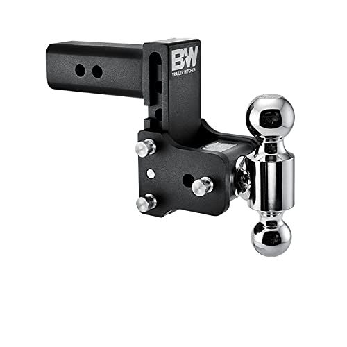 """B&W Trailer Hitches Tow & Stow - Fits 2.5"""" Receiver, Dual Ball (2"""" x 2-5/16""""), 5"""" Drop, 14,500 GTW - TS20037B"""