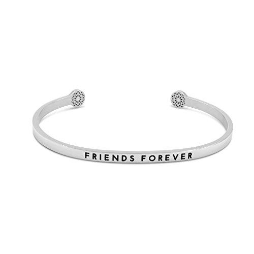 Simple Pledge - Friends Forever - Armreif in Silber mit Gravur für Damen