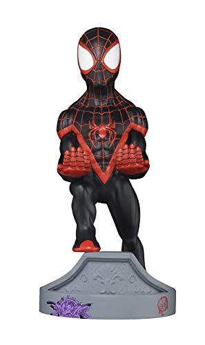 Exquisite Gaming - Cable guy Spiderman edición miles morales, soporte de sujeción o carga para mando de consola y/o smartphone (PS4)