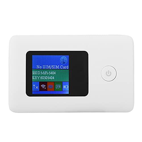 Enrutador WiFi 4G, Portátil De Alta Velocidad Repetidor Hotspot Inalámbrico, WAN De 10/100/1000Mbps, LAN De 150Mbps, Blanco