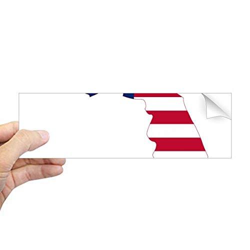 DIYthinker Florida USA Kaart Sterren Strepen Vlag Vorm Rechthoek Bumper Sticker Notebook Window Decal