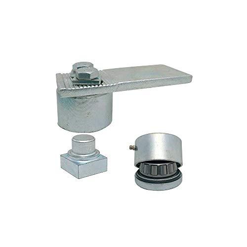 Cardine a cuscinetti per cancelli in ferro a battente Diametro 50 coppia ART. 438–439 IBFM