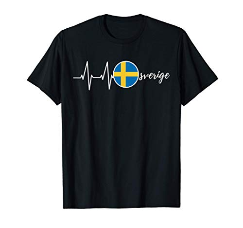 Sverige Sweden Schweden Fahne Flagge T-Shirt