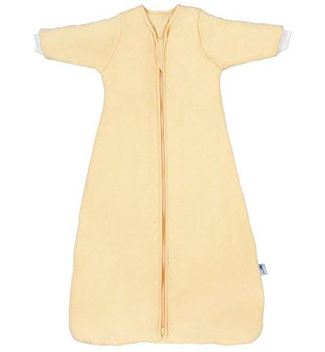 Schlummersack - Saco de dormir para niños con mangas para invierno (3,5 tog, 3-6 años, 130 cm), color amarillo