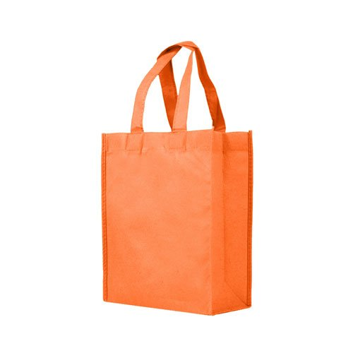 Reusable Gift/Party/Lunch Tote Bags - 25 Pack - Orange