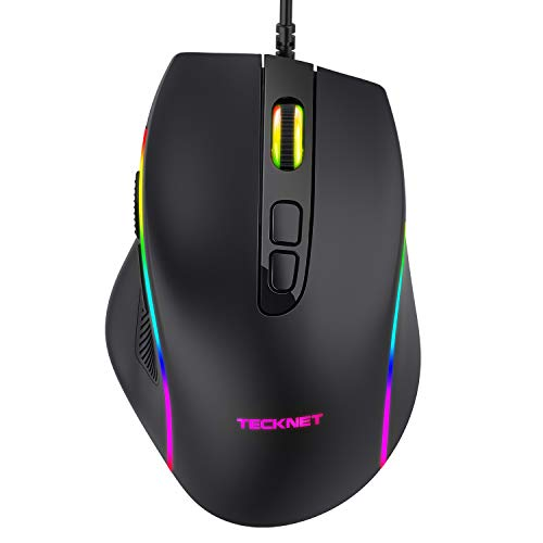 TECKNET Gaming Mouse, Wired Programmable Computer Laptop Mice, Games...