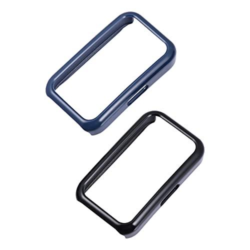 ibasenice 2 Piezas Reloj Protector de Pantalla Smart Watch Funda de Cobertura Completa Anti- Rasguño Transparente TPU Película Cubierta Compatible para Huawei Relojes Azul/