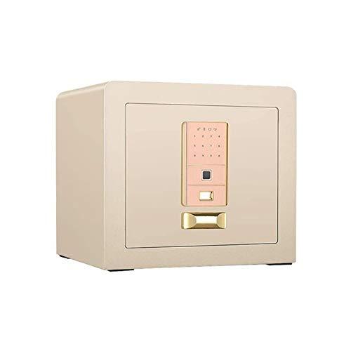 XHMCDZ Caja fuerte ignífugo y resistente al agua doméstica Safe pequeña huella digital contraseña caja de seguridad armario mesita de noche completamente de acero mini-in-closet con llave antirrobo ca
