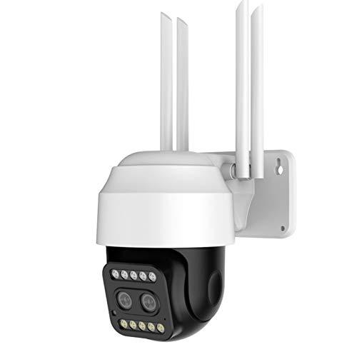 SUN JUNWEI Cámara De Vigilancia 1080P Cámara De Seguridad Inalámbrica Doble Lente PTZ Speed Dome Cámara De Video De Calle WiFi Externa IP CCTV P2P Alerta De Movimiento IP66 Impermeable