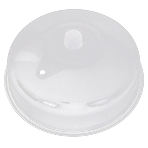 microwave cover, Amiley Microwave Food Cover Plate Vented Splatter Protector Clear Kitchen Lid Safe Vent new (C)