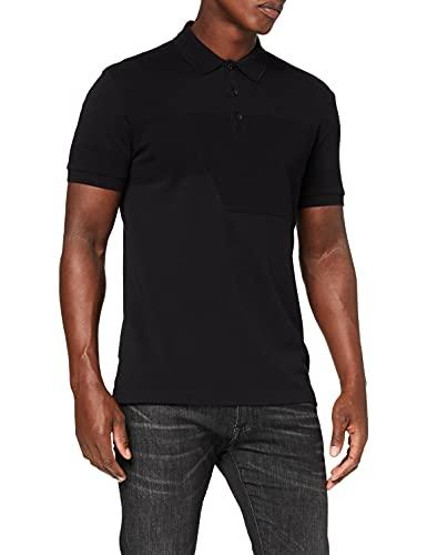 BOSS Mens Paddy 6 Polo Shirt, Black (1), M