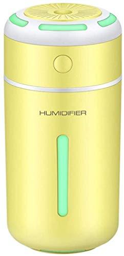 JSL Humidificadores Cool Mist portátil pequeño humidificador de aire USB de escritorio con 7 luces LED coloridas para el dormitorio del coche del bebé (color azul) - amarillo