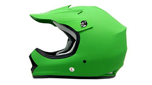SmartDealsNow DOT Youth & Kids Helmet for Dirtbike ATV Motocross MX Offroad Motorcyle Street bike Helmet (Large, Purple)