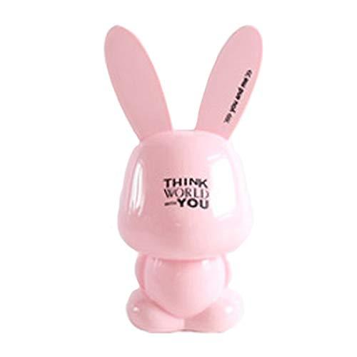 LUYTW Caja de Ahorro de Dinero de Grandes alcancías Conejo de Dibujos Animados Lindo Hucha de Resina Caja de Moneda Caja del Ahorro de Dinero Money Coin Banks Gran Regalo para niños (Color : Pink)
