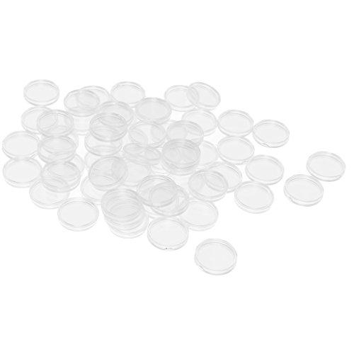 sharprepublic 100 Coin Holder Cápsulas Clear Case Caja para El Protector De La Colección De Monedas - 28mm