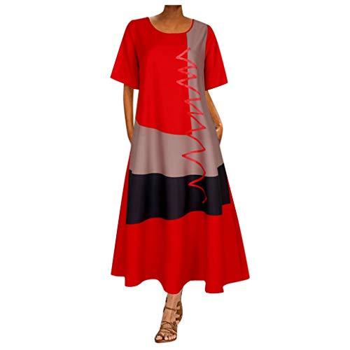 Kleider Für Damen Rosa Kleider Damen Kleid Damen Sommer Figurumspielende Kleider Sexy Sommerkleider Damen Kurze Kleider Kleid Mädchen 122 Baby Bekleidung Mädchen(Orange,M)