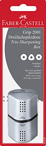 Faber-Castell Grip Trio Pencil Sharpener - Grey